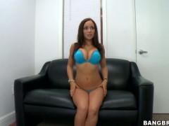 Amateur Bella Sianna first strip on camera