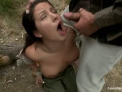 Busty camper Charity Bang gets loads of cum