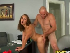 Redhead sucks like theres no tomorrow in steamy oral action with hot bang buddy