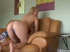Very horny and sweet blonde Kodi Gamble stroking